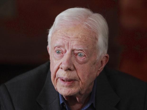 Jimmy Carter, ex-presidente dos Estados Unidos, em foto de 1 de abril de 2013 (Foto: Reuters/Navesh Chitrakar)