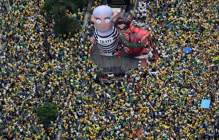 Protesto contra Dilma e Lula na Avenida Paulista