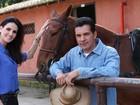 Lisandra Souto grava clipe do cantor sertanejo Paulinho Reis e é dirigida pelo namorado