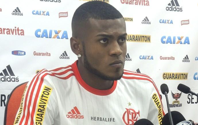 Marcelo Cirino, Coletiva Flamengo (Foto: Thiago Lima)