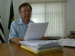 Cargo de prefeito de Paranapanema, SP, foi transferido para Antonio Nakagawa, que era vice-prefeito. (Foto: Jamie Rafael / TV TEM)