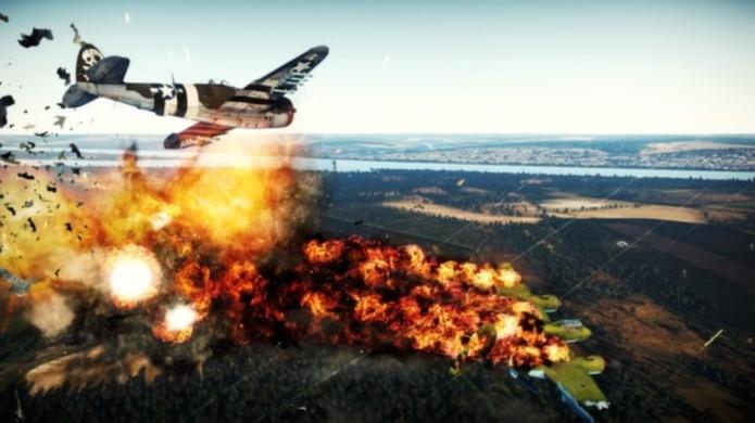Simulador de guerra completo, War Thunder possui mais de 350 aviões (Foto: Divulgação)