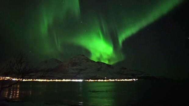 Grupos de baleias como este são comuns na região (Foto: BBC)