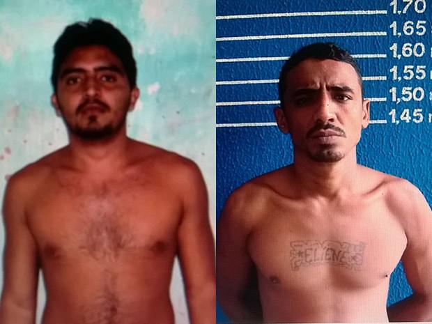 Os fugitivos foram identificados como Roberto Medeiros Nascimento e Francisco Herlanderson Sotero (Foto: Divulgação/Sejuc)