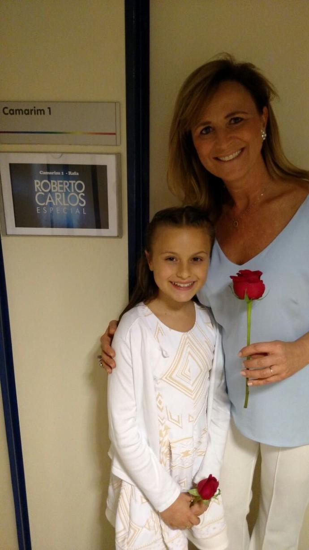 Mamãe também ganhou rosa (Foto: arquivo pessoal)