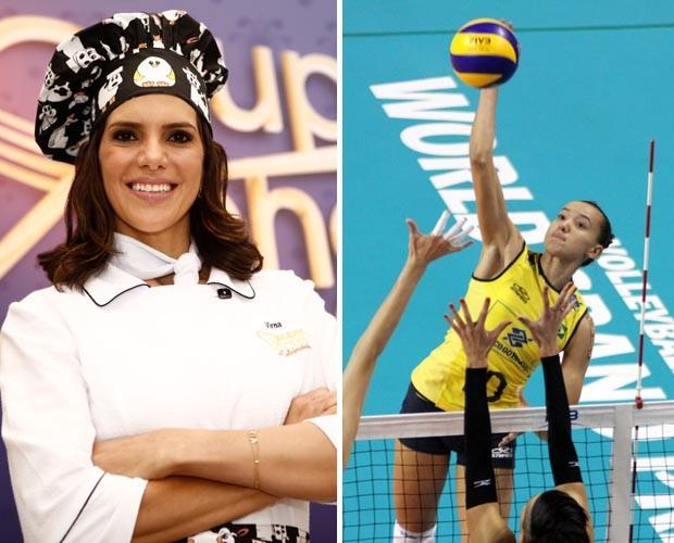 Virna não poupa elogios à Gabi, revelação do vôlei brasileiro: 'É a 'Mireya' brasileira' (Foto: Mais Você / TV Globo e Alexandre Arruda / CBV)