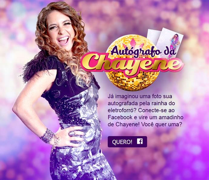 Ganhe um autógrafo personalizado de Chayene! (Foto: Daniel Chevrand / Gshow)