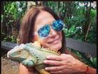 De férias, Susana Vieira divulga foto na Jamaica