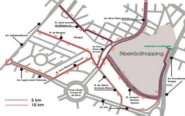 Percurso Run Series Ribeirão Preto (Foto: Divulgação / Run Series)