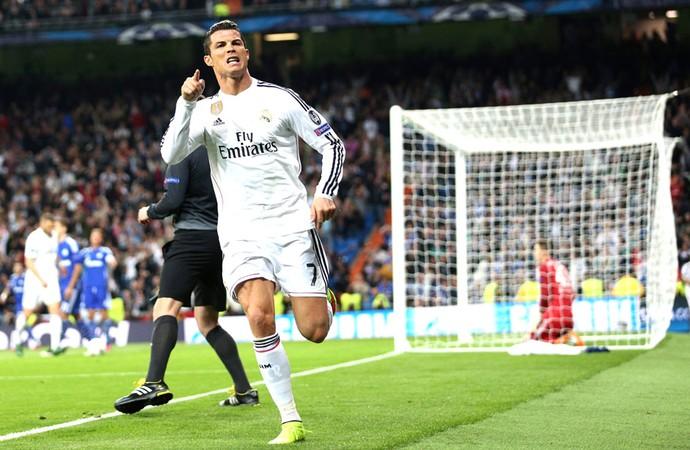 Cristiano Ronaldo, Real MAdrid X Schalke (Foto: Agência EFE)