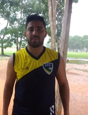 Jogador Marco Aurélio, o Bochecha (Foto: Jheniffer Núbia/GloboEsporte.com)