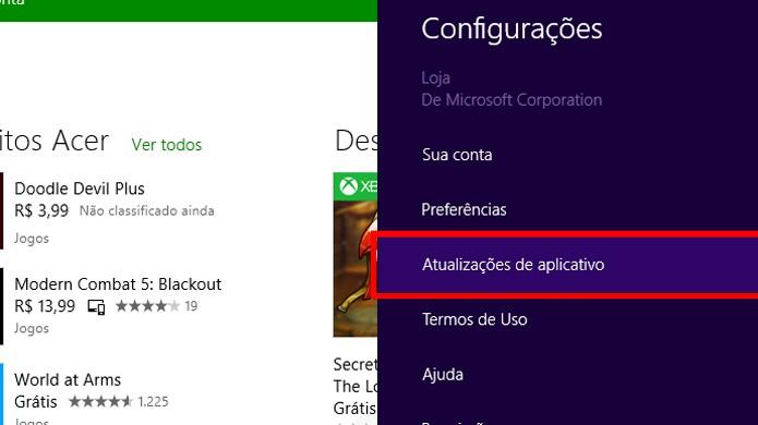 Menu permite customizar uso do aplicativo (foto: Reprodução/João Kurtz)