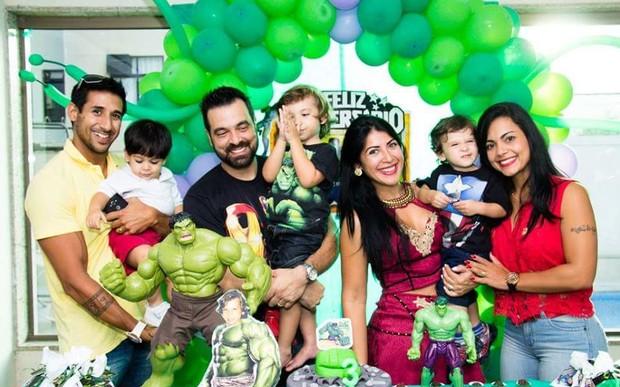 Priscila Pires e família (Foto: Divulgação / Bruh Teixeira Fotografia)