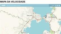 Confira informações do mapa da velocidade  (Reprodução/G1)