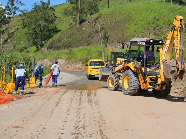 Estrada de Sabaúna foi reaberta para o trânsito (Foto: Guilherme Berti/Prefeitura de Mogi das Cruzes)