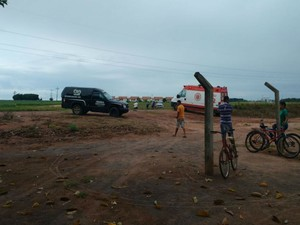 Samu foi acionada para socorrer a vítima do acidente (Foto:  Blog do Sigi Vilares)