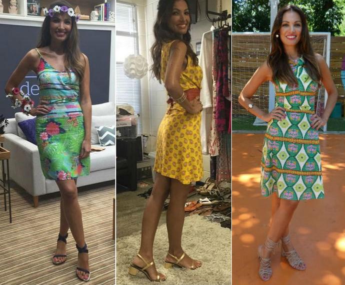 Patrícia usa e abusa dos vestidinhos estampados para comandar a atração das manhãs de sábado da TV Globo (Foto: Gshow/Arquivo Pessoal)