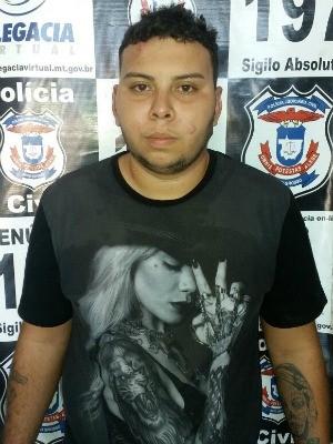 Adeilson Ribeiros dos Santos é apontado como o 7º integrante da quadrilha (Foto: Divulgação/Polícia Civil de MT)