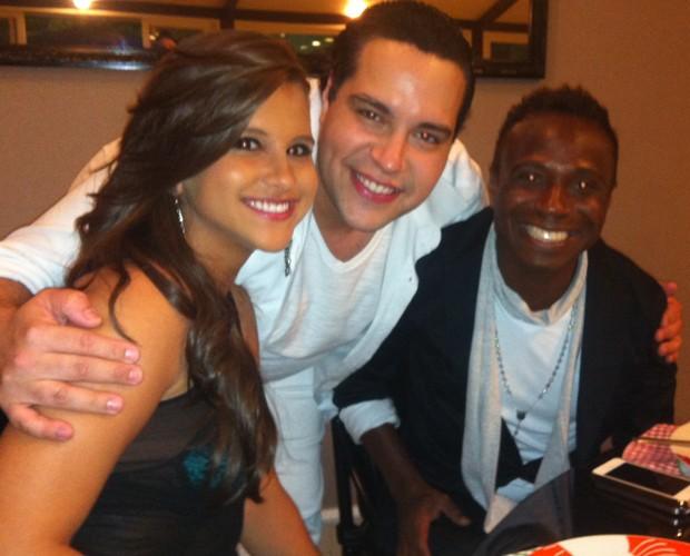A bailarina Lidiane Rodrigues, Tiago Abravanel e Edilson (Foto: Domingão do Faustão / TV Globo)