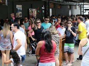 Muitas pessoas aproveitaram o domingo para participar (Foto: Jonathan Lins/G1)