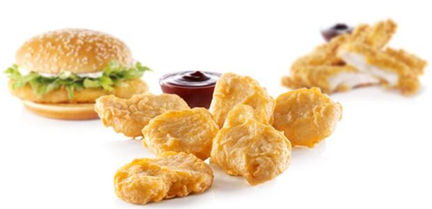 Linha do McDonald's que usa carne de frango (Foto: Divulgação)