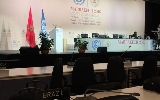 Plenária da Conferência do Clima em Marrakech, Marrocos (Foto: Bruno Calixto/ÉPOCA)