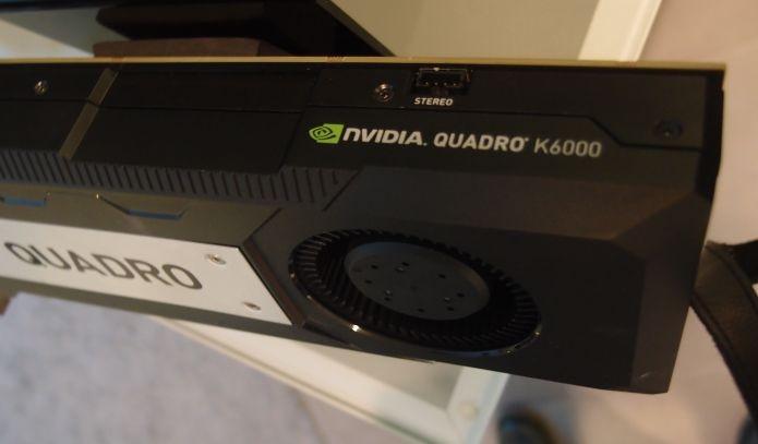 Nova GPU Quadro K6000 (Foto: Pedro Zambarda/TechTudo)
