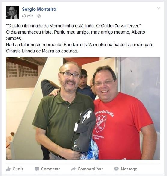 Sérgio Monteiro Alberto Simões (Foto: Reprodução/Facebook)