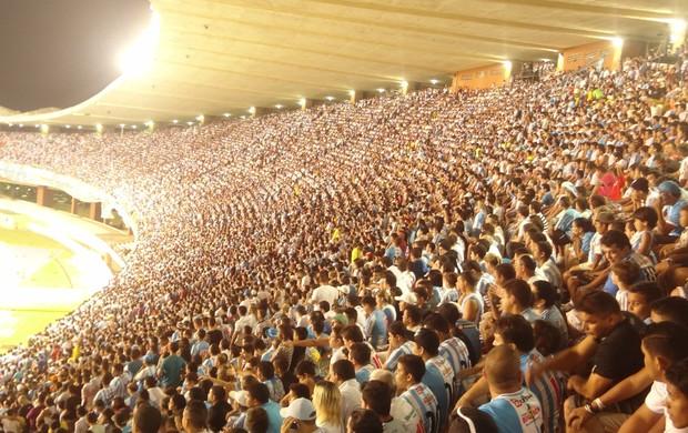 Paysandu x Palmeiras - torcida do Papão no Mangueirão (Foto: Pedro Cruz)