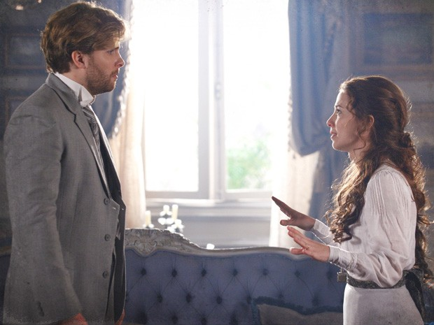 Laura pede a separação para Edgar (Foto: Lado a Lado/Tv Globo)