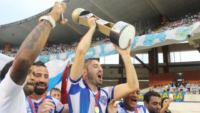 Paysandu comemora o título da Taça Cidade de Belém (Foto: Fernando Torres/Ascom Paysandu)