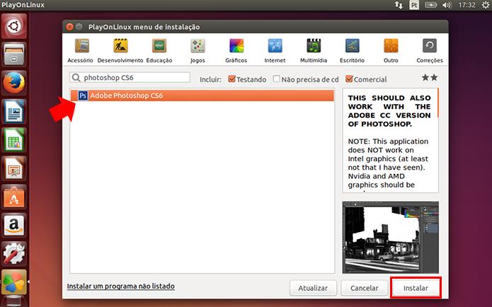 Busque pelo Photoshop CS6 e comece sua instalação (Foto: Reprodução/Paulo Alves)