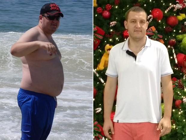 Alam emagreceu 48 kg em 6 meses, passando de 138 kg para 90 kg (Foto: Alam Augusto Begiatto/Arquivo pessoal)