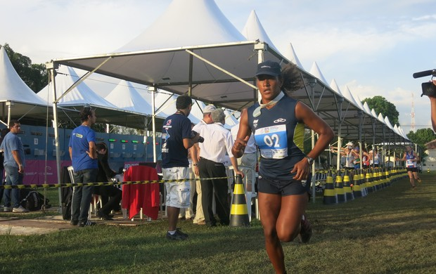 Priscila Oliveira na Copa do Mundo de Pentatlo moderno (Foto: Leonardo Filipo)