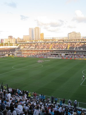 Vila Belmiro santos x figueirense (Foto: Marcelo Hazan / Globoesporte.com)