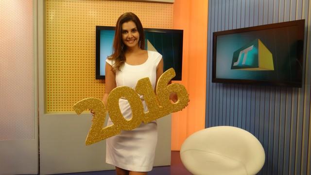 Bastidores das gravações da mensagem de ano novo da TV Tribuna (Foto: Fernanda Maciel)