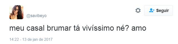 Fãs comemoram o namoro de Bruna Marquezine e Neymar (Foto: Reprodução/Twitter)