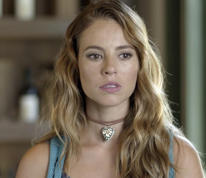 Melissa não gosta nada da atitude de Felipe (Foto: TV Globo)