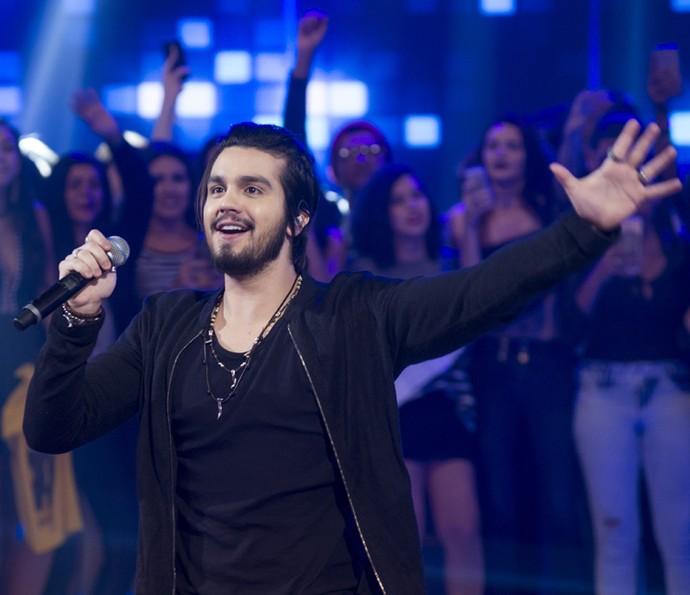 Luan Santana comenta nova fase na carreira no 'Caldeirão' (Foto: Mauricio Fidalgo/TV Globo)