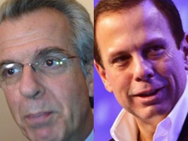 Andrea Matarazzo e João Doria (Foto: Letícia Macedo/G1, Divulgação)