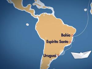 Velejador saiu da França em 2015 e tinha como destino o Uruguai (Foto: Reprodução/RBSTV)