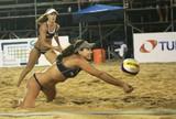 Brasil brilha no feminino e põe três duplas nas semis em etapa argentina