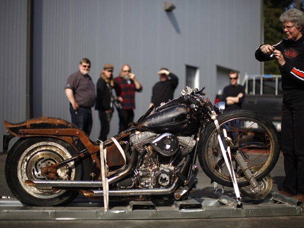 Harley-Davidson; Tsunami; canada; japão; moto; night train (Foto: Chad Hipolito / AP Photo/The Canadian Press)