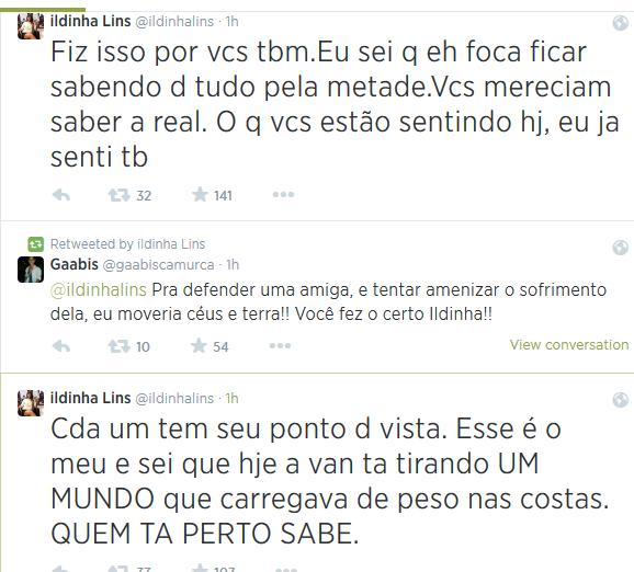 Post da fã que postou conversa de Clara (Foto: Divulgação/Divulgação)