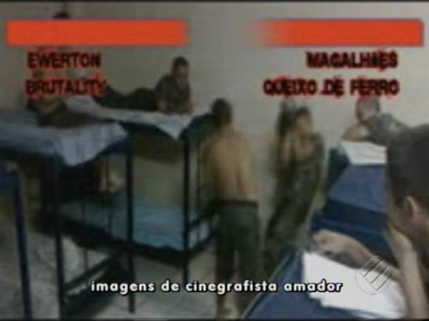 Edição caseira do vídeo mostra as lutas como se fossem parte de um jogo de vídeo game. (Foto: Reprodução/TV Liberal)