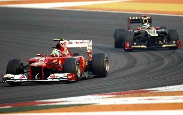 Felipe Massa e Kimi Raikkonen no GP da Índia (Foto: Reuters)