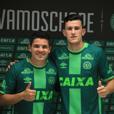 Diego Renan e Nathan Chapecoense (Foto: Sirli Freitas/Chapecoense)