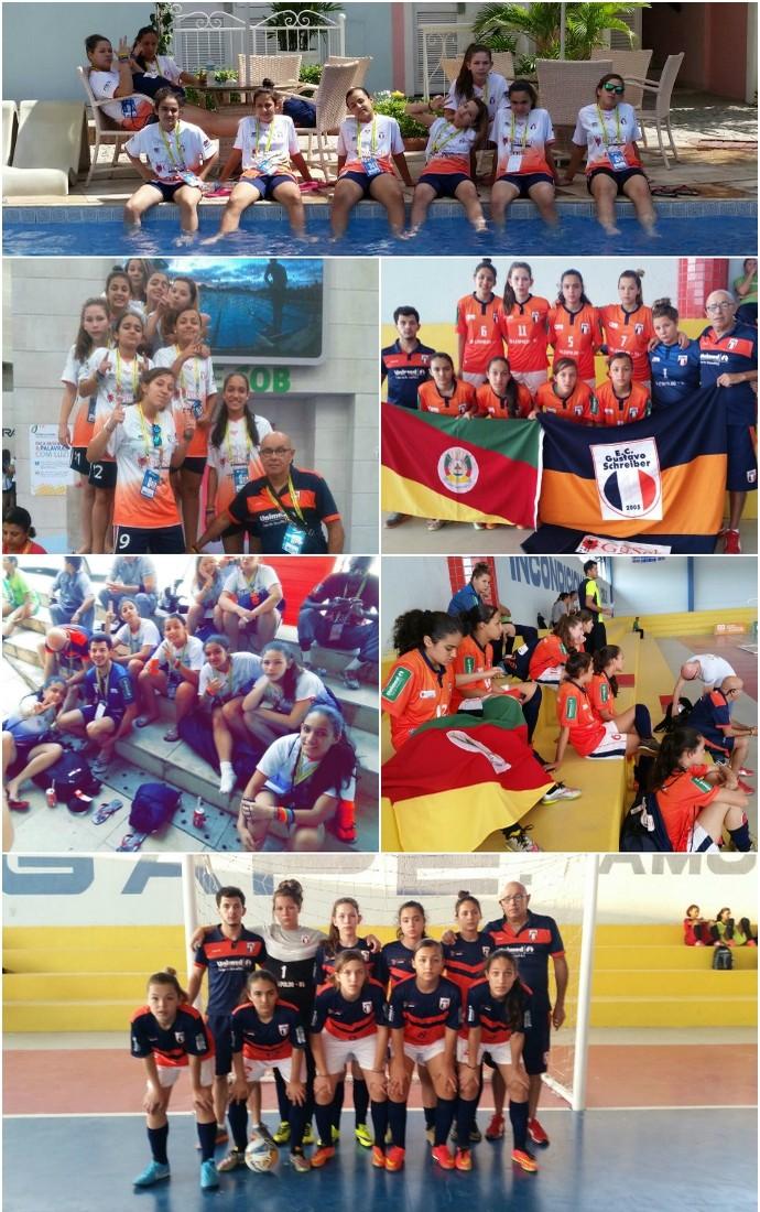 RS, Rio Grande do Sul, Jogos Escolares, Futsal, feminino, projeto, social (Foto: Conrado Schreiber/Arquivo Pessoal)
