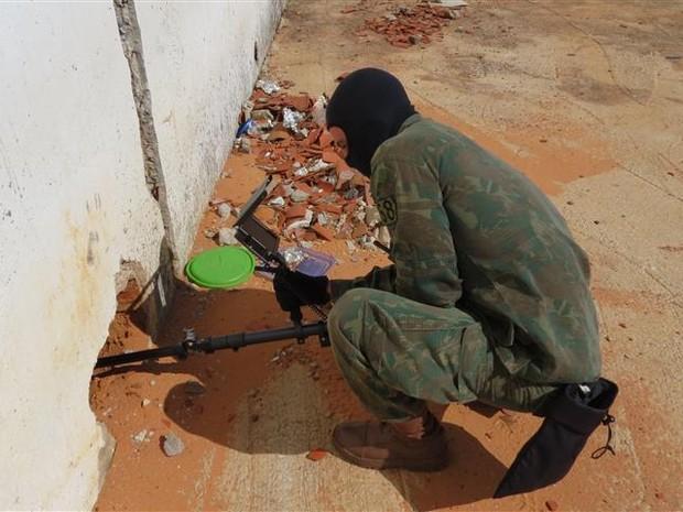 Busca foi realizada por fuzileiros navais (Foto: Divulgação/Marinha do Brasil)