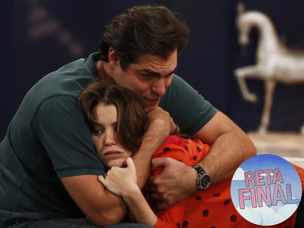 Marcos fica fora de si ao descobrir que Laura está grávida (Foto: Raphael Dias/Gshow)